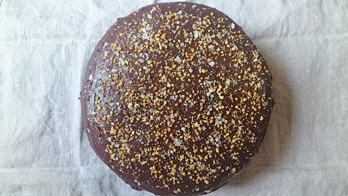 Bee Pollen Chocolate Cake