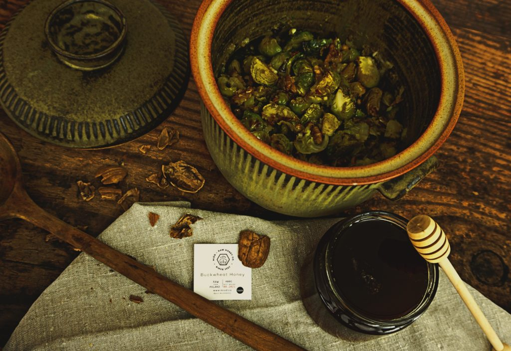 Roasted Brussels Sprouts with Honey Dressing
