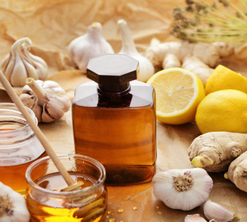 Honey  and homemade remedies for cold and flue