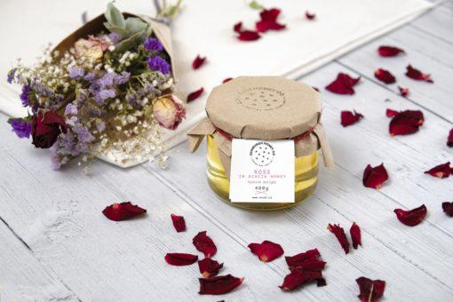 Rose infused Acacia Honey